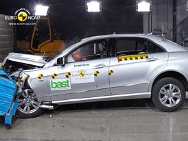 Euro NCAP 2009:  Mercedes Benz E – Šetrný k hlavám chodců díky aktivní kapotě