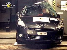 Euro NCAP 2009: Peugeot 5008 –  Pět hvězd, chodci v ohrožení