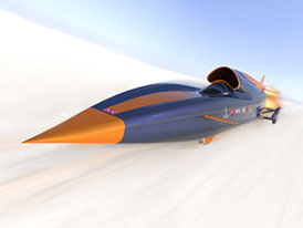 Bloodhound SSC: Projekt vozu pro překonání rychlosti 1600 km/h nabírá obrátky
