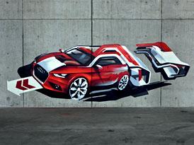 Audi A1: Zatím jen jako graffiti (VIDEO)