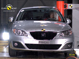 Euro NCAP 2010: Seat Exeo – Čtyři hvězdy podle zpřísněné metodiky