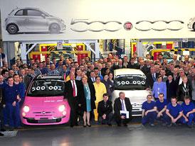 Fiat 500: V polských Tychách vyroben půlmiliontý vůz