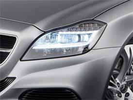 Mercedes-Benz CLS dostane přední světlomety výhradně ze světelných diod
