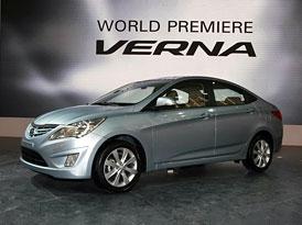Hyundai Verna: Světová premiéra nové generace Accentu v Pekingu