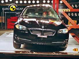 Euro NCAP 2010:  BMW 5 � P�t hv�zd, problematick� je jen tuh� p�edn� hrana kapoty