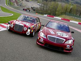 Mercedes-Benz S 63 AMG biturbo a 300 SEL 6,8 AMG: Setkání generací ve Spa