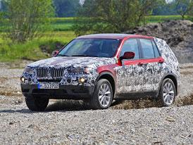 Nové BMW X3: Maskovaný prototyp oficiálně představen