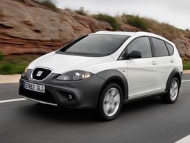 SEAT Altea Freetrack 1,4 TSI 2WD za 512.900,-Kč, naftová čtyřkolka 2,0 TDI 4WD za 614.900,-Kč