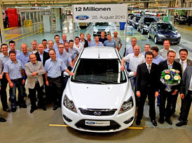 Ford v Saarlouis vyrobil 12miliontý automobil
