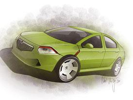 Škoda A-entry: Vize nástupce Octavie Tour podle časopisu AutoDesign&Styling