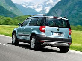 Český trh v červenci 2010: Trh ve třídě malých SUV letos roste o 45 %, vede Yeti