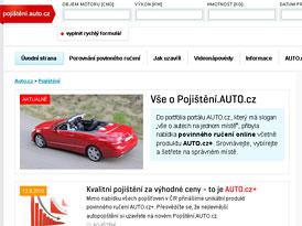 Pojisteni.Auto.cz: Povinné ručení AUTO.cz se slevou až 85 %