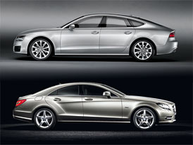 Audi A7 vs. Mercedes-Benz CLS: Designový duel