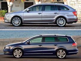 Škoda Superb vs. VW Passat: Designový duel