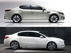 Kia Optima vs. Peugeot 508: Designov� duel