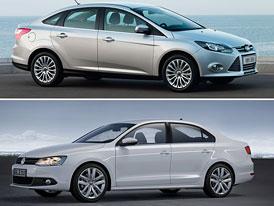 Ford Focus vs. Volkswagen Jetta: Designový duel