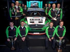 Škoda rally šampióni slaví závěr úspěšné sezóny