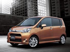 Pátá generace Daihatsu Move: Hmotnost 685 kg, spotřeba 3,7 l/100 km