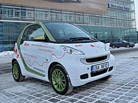 První elektromobily smart ed v ČR