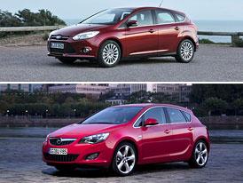 Ford Focus vs. Opel Astra: Designový duel