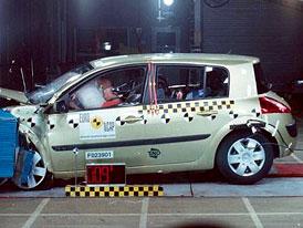 Renault Mégane II získal 5 hvězd v Euro NCAP