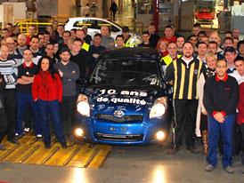 Toyota Yaris se v Evropě vyrábí 10 let