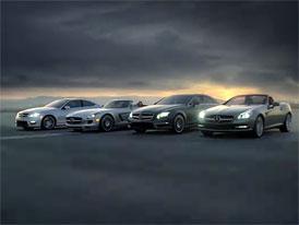 Video: Mercedes-Benz C Coupé a SLS AMG Roadster