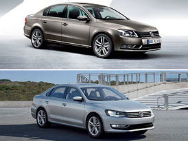 Designov� duel: VW Passat EU vs. VW Passat NMS