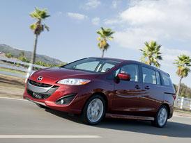 Mazda5 v USA: Motor 2,5 MZR standardem