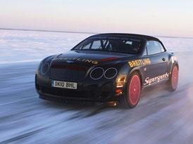Nejlepší jízda na ledu: Otevřený Bentley + Kankkunen = 330 km/h