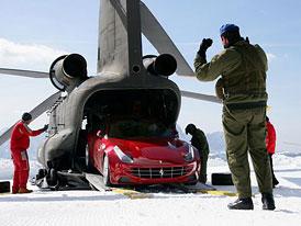 Ferrari FF: Letecký den s helikoptérou v Dolomitech