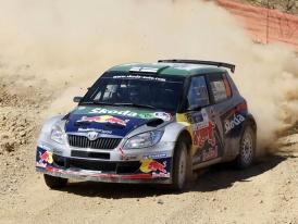 Juho Hänninen a Red Bull Škoda tým druzí na Mexické Rally