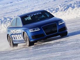 Kdo je na ledu nejrychlejší? Nokian a Audi RS6 (331 km/h) – video
