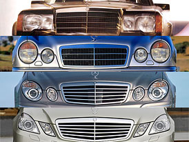 Mercedes-Benz E: Design po generacích
