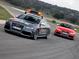 Audi RS 5 coby pace car v LMS, aneb když se letmý start nepovede (VIDEO)