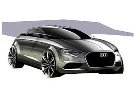 Audi A3: Hatch a sedan na oficiálních skicách