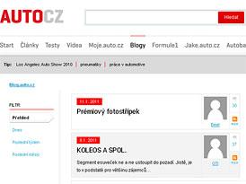 Blog.auto.cz: Nový design, nové funkce. Čekáme na vaše avatary