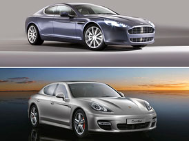 Aston Martin Rapide vs. Porsche Panamera: Designov� duel