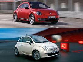 VW Beetle vs. Fiat 500: Designový duel