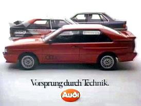 Audi slaví výročí náskoku: 40 let sloganu Vorsprung durch Technik