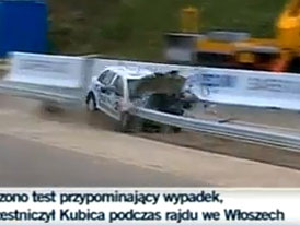 Robert Kubica: Crash s opravdovou Fabii (video)