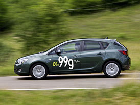 Opel Astra EcoFlex: 96 kW, 300 Nm, 3,7 l/100 km