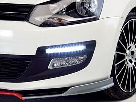 Denní LED-svícení pro Volkswagen Polo a Golf jako příslušenství