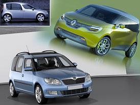 Designový duel: Renault Frendzy vs. Škoda Roomster