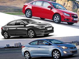 Hyundai Elantra vs. Chevrolet Cruze a Renault Fluence: Co koupit?