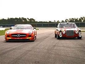 Video: Mercedes-Benz SLS AMG GT3 a 300 SEL 6.8 AMG – Na okruhu