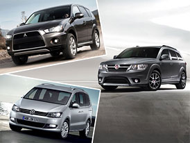 Fiat Freemont vs. Mitsubishi Outlander a VW Sharan: Co koupit?