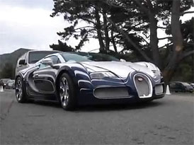 Bugatti Veyron Grand Sport L'Or Blanc: Porcelánový Veyron v Kalifornii (video)