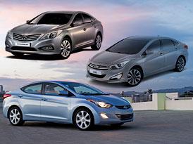Designov� trojboj: Hyundai Elantra vs. i40 vs. Grandeur - Fluidum t�ikr�t jinak