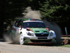 Škoda na Rally San Remo s lídrem IRC Kopeckým